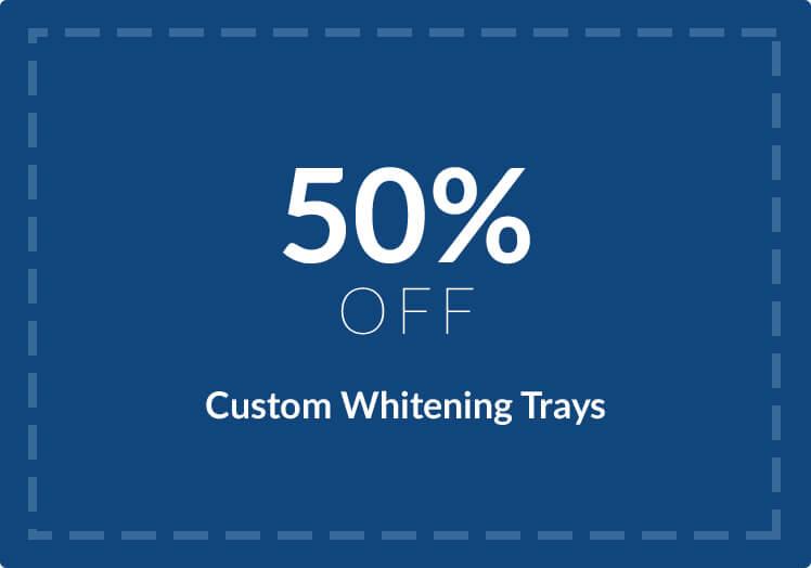 50% OFF Custom Whitening Trays